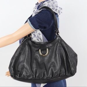 💎✨100% Leather✨💎GUCCI Black Leather Hobo Bag